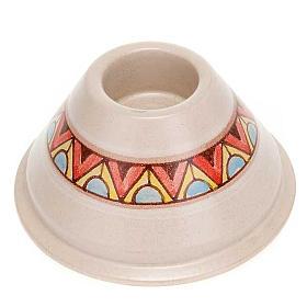 Portacandela tondo ceramica s2
