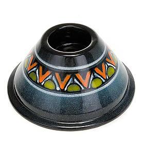 Portacandela tondo ceramica s3