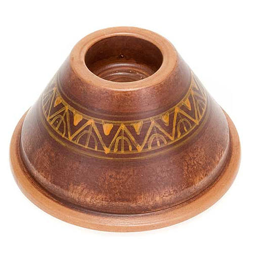 Portacandela tondo ceramica 1