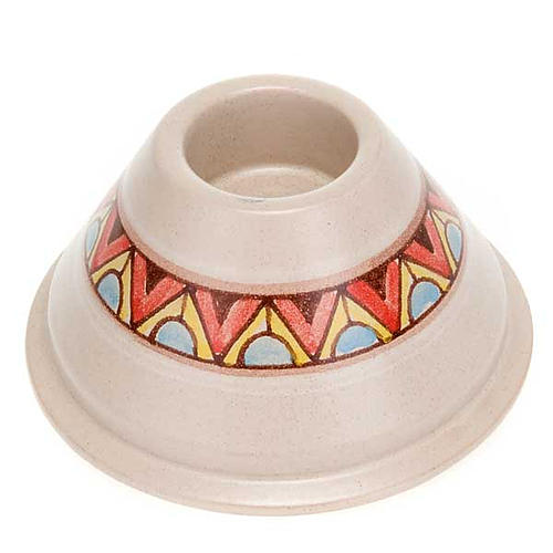 Portacandela tondo ceramica 2