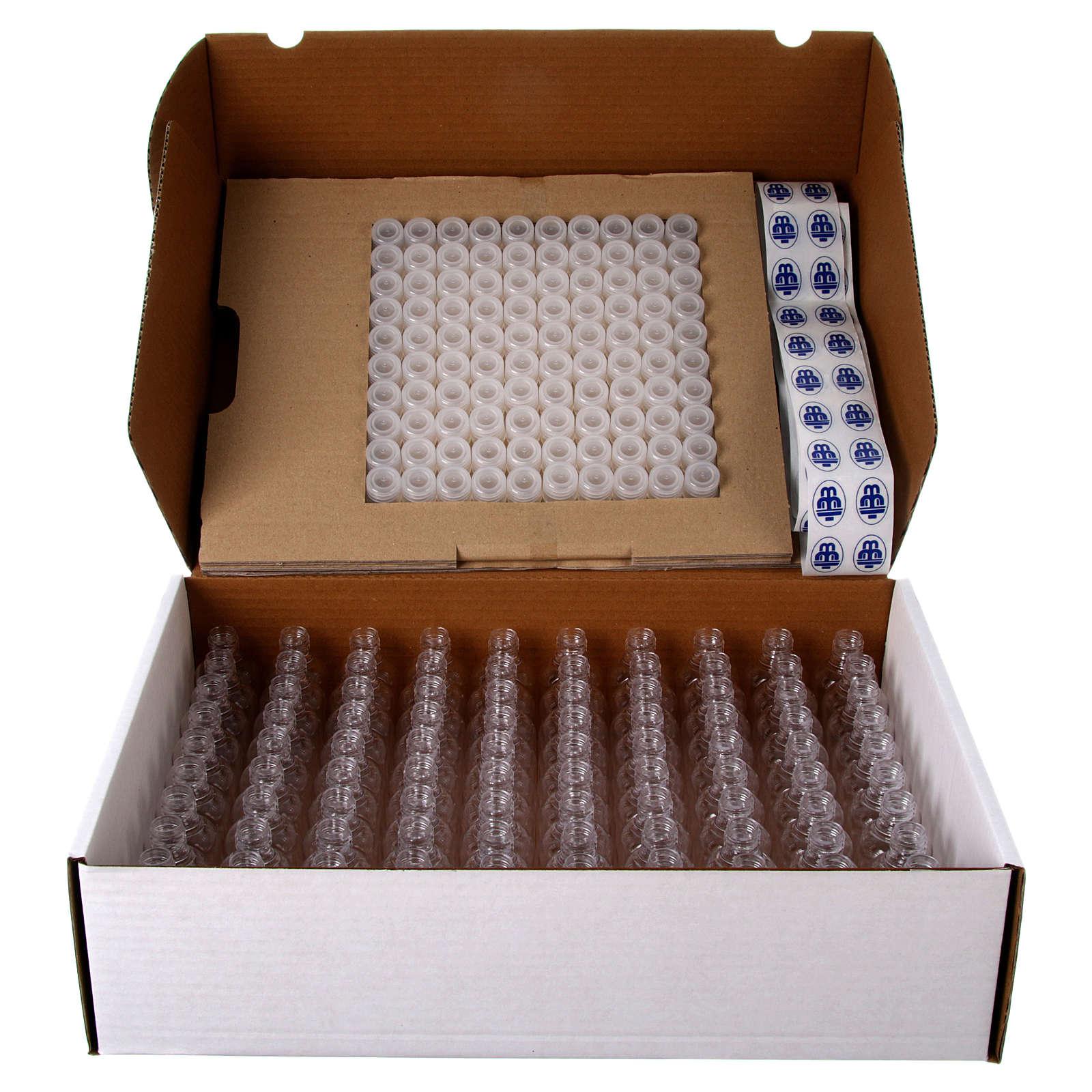 Embalagem 100 garrafinhas para água benta 3