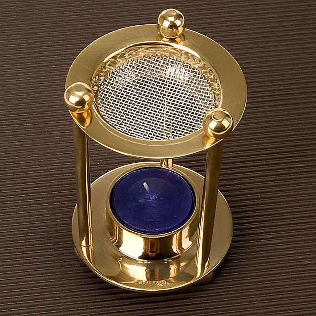 Brass tealight incense burner 3