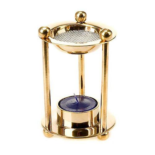 Brass tealight incense burner 1