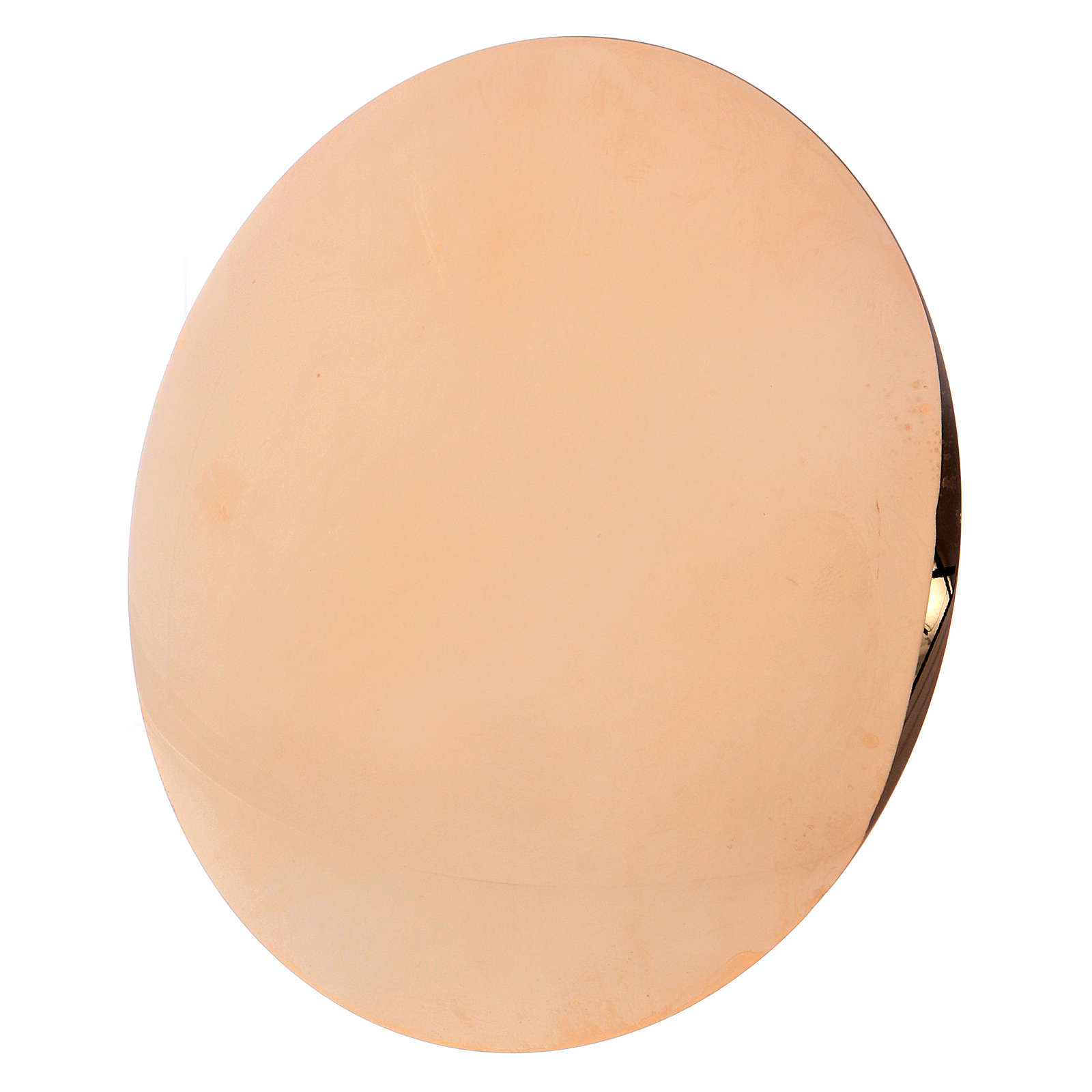 Patène en laiton doré 4