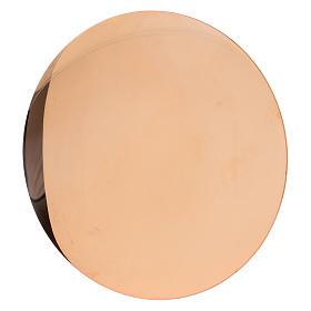 Patena in ottone dorato s1