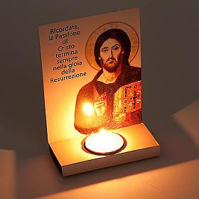 Cartoncino benedizione con tealight s2