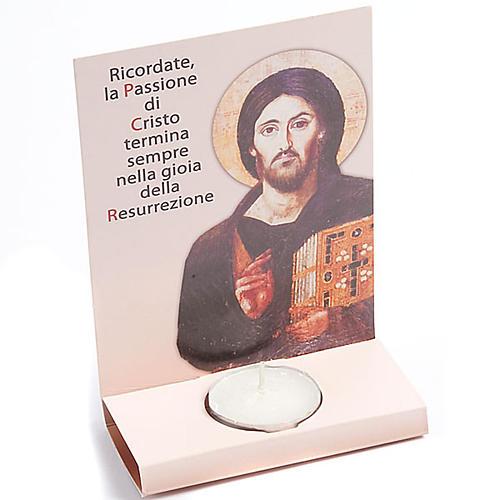 Ołtarzyk kartonowy ze podpłomyskiem i błogosławi 1