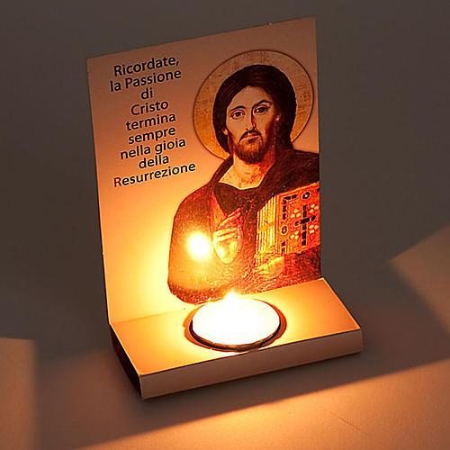 Ołtarzyk kartonowy ze podpłomyskiem i błogosławi 2