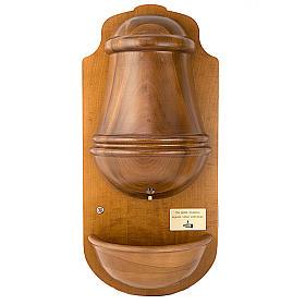 Acquasantiera elettronica in legno con vasca s1