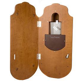 Acquasantiera elettronica in legno con vasca s2