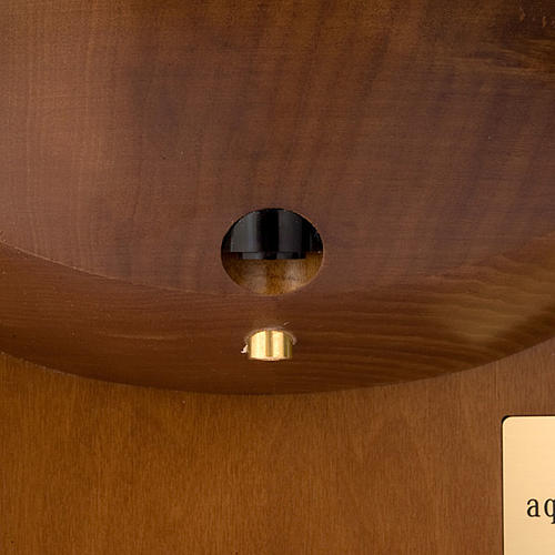 Acquasantiera elettronica in legno con vasca 4