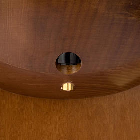 Wood Holy Water Font with no tank s5