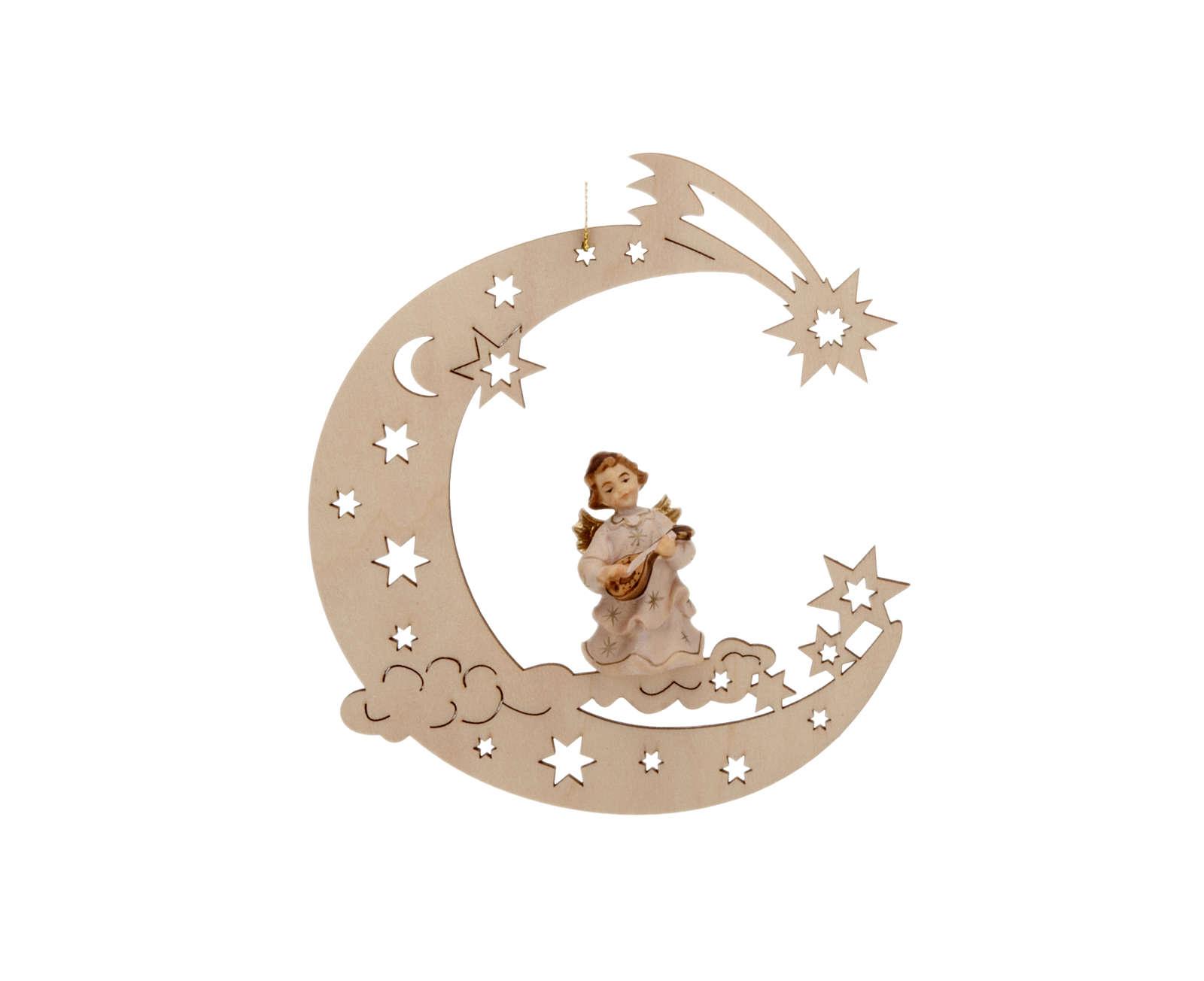 Musician angel, moon and stars 4