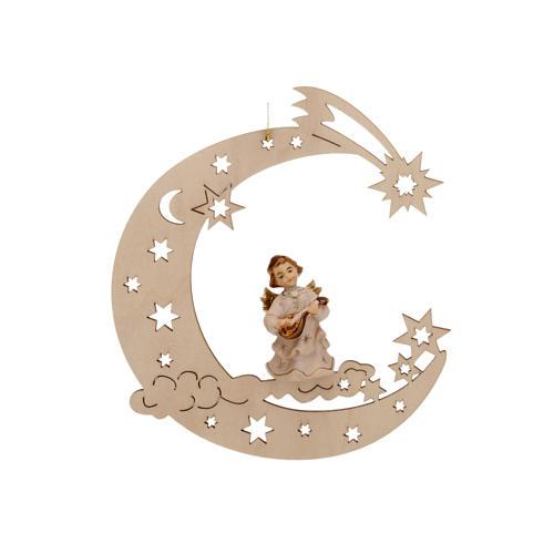 Musician angel, moon and stars 1