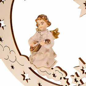 Christmas Decoration of Musician Angel on a Moon with Stars s6
