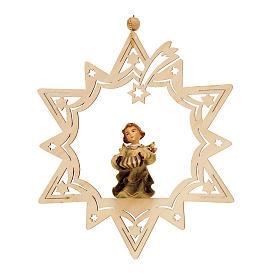 Décorations sapin bois et pvc: ange  musicien, étoile