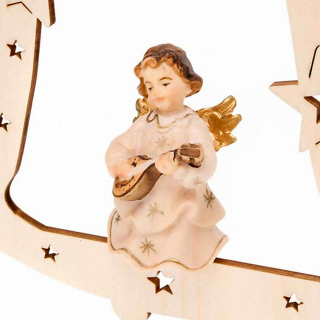 Musician Angel with Bell Christmas Tree Decoration 4