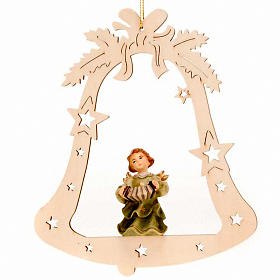 Musician Angel with Bell Christmas Tree Decoration s4