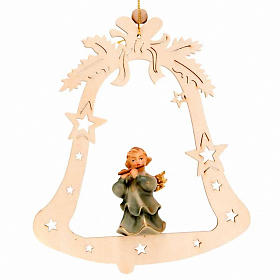 Musician Angel with Bell Christmas Tree Decoration s6