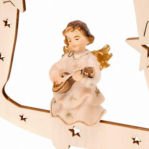 Musician Angel with Bell Christmas Tree Decoration 2