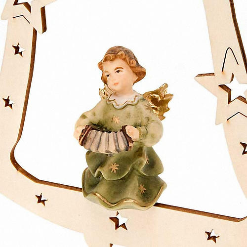 Musician Angel with Bell Christmas Tree Decoration 3