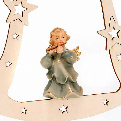 Musician Angel with Bell Christmas Tree Decoration 5
