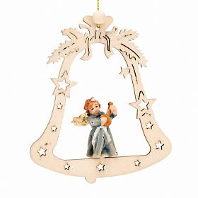 Christmas decor angel on a bell s4