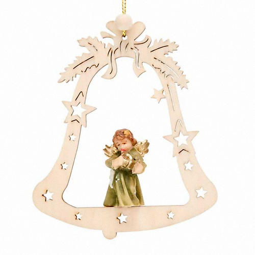Christmas decor angel on a bell 1