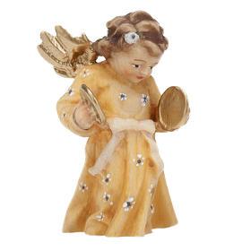 Adornos de madera y pvc para Árbol de Navidad: Angelito músico con hilo