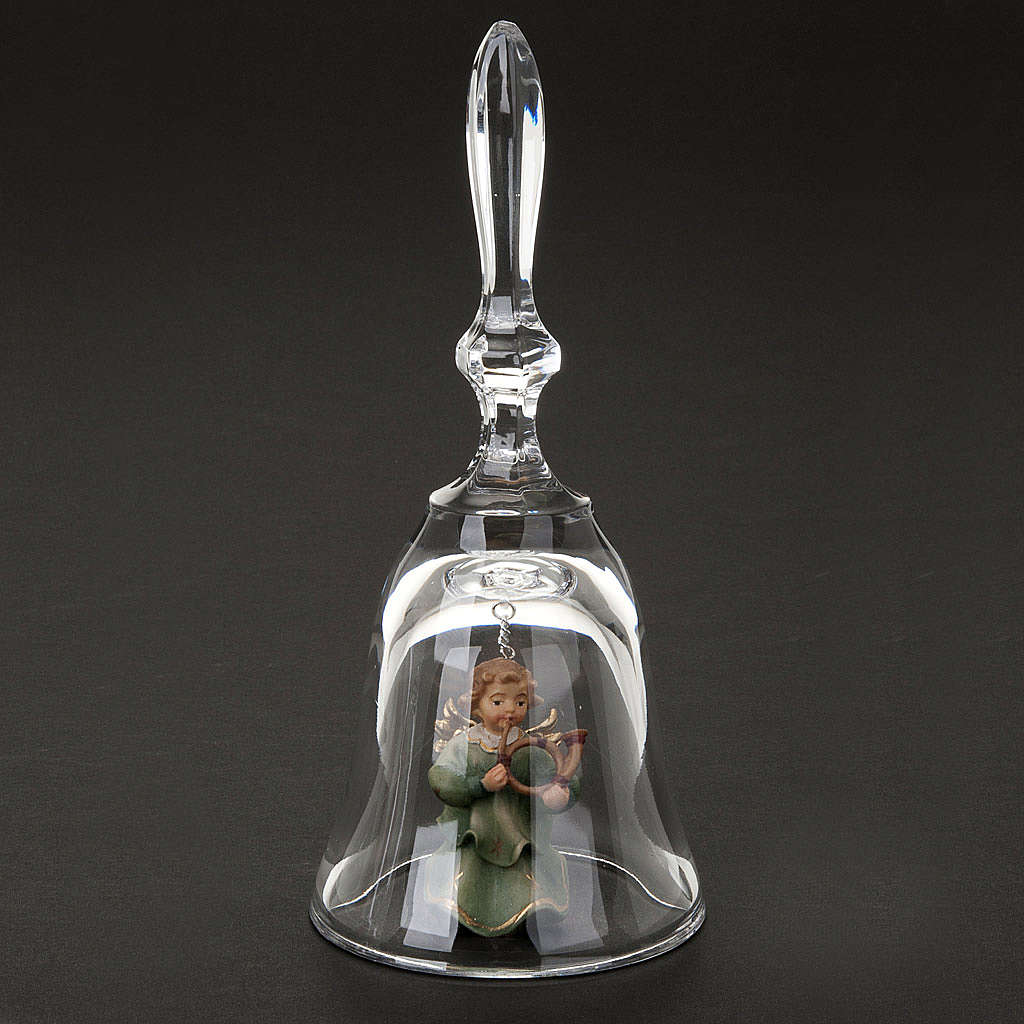 Crystal bell with angel 3