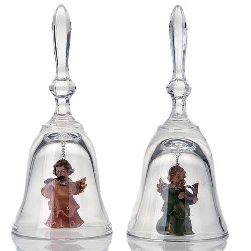 Crystal bell with angel 1