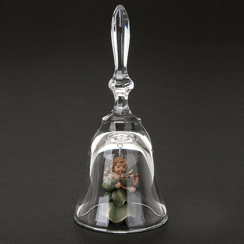 Crystal bell with angel 2