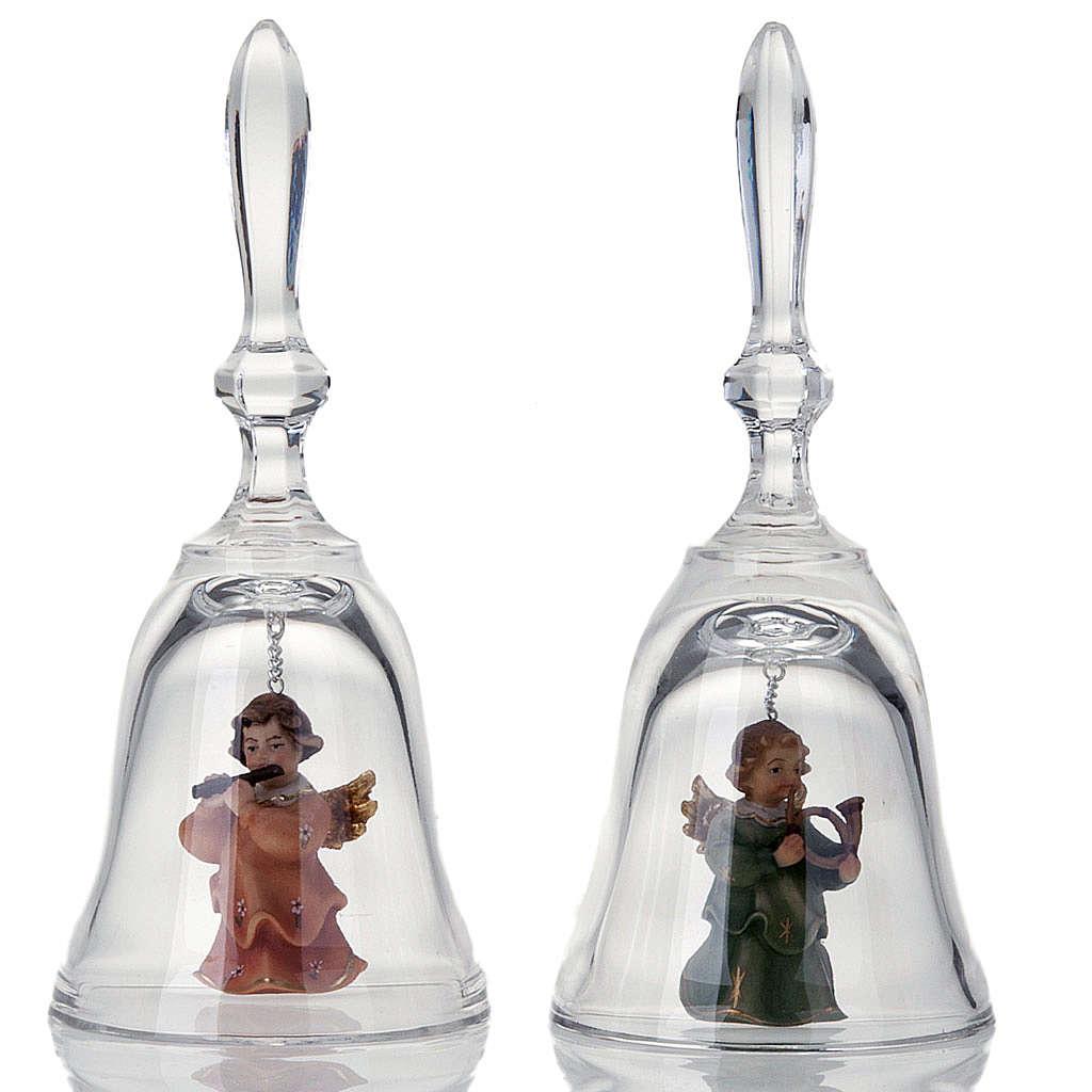Clochette en cristal avec ange 3