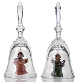 Clochette en cristal avec ange s1