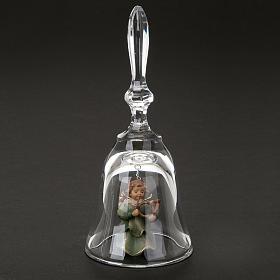 Clochette en cristal avec ange s2
