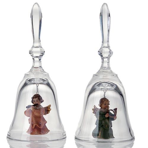 Clochette en cristal avec ange 1