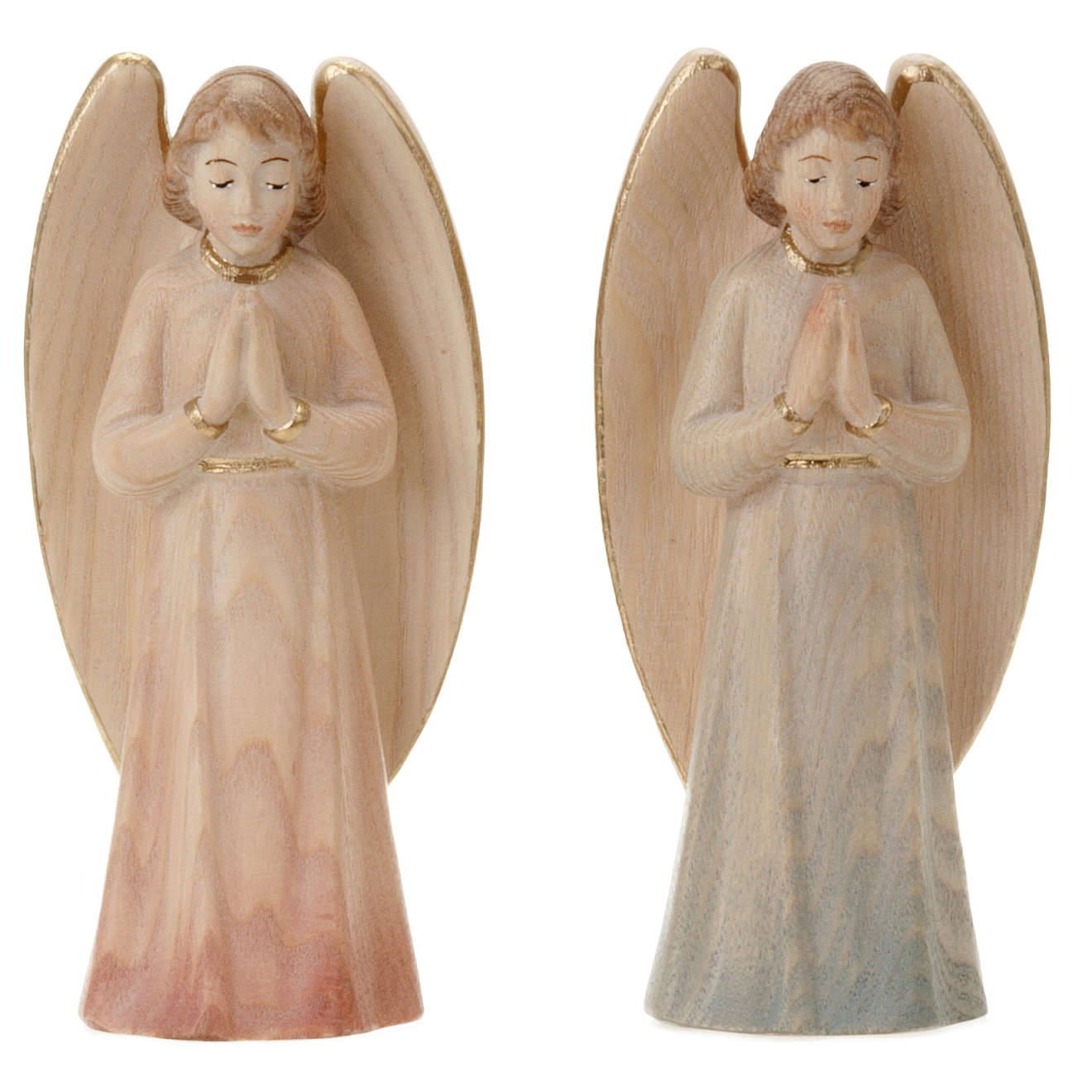 Wood Statue of Angel in Prayer 3