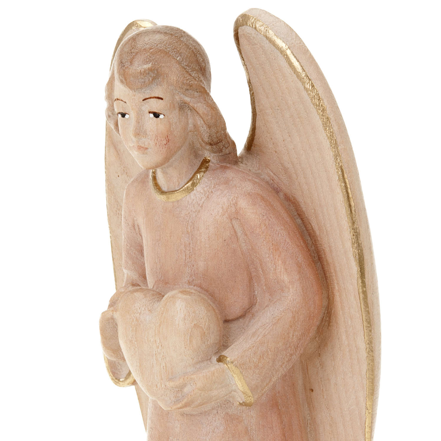 Wooden Angel Statue with Heart 3