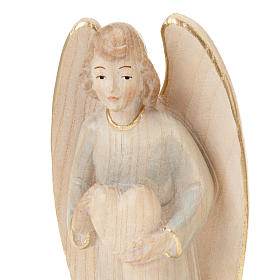 Wooden Angel Statue with Heart s5