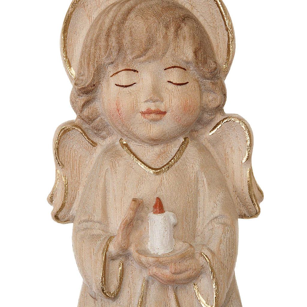 Ángel con vela y vestido rosa 4