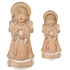 Anioł ze świecą różowe szaty s1