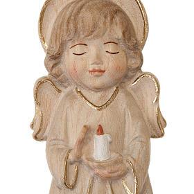 Anioł ze świecą różowe szaty s2
