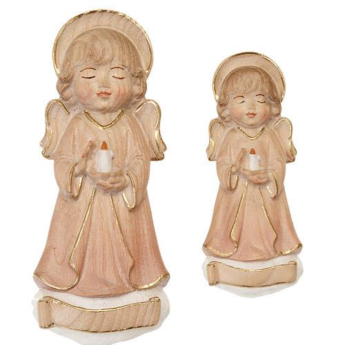 Anioł ze świecą różowe szaty 1