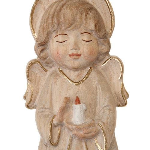 Anioł ze świecą różowe szaty 2