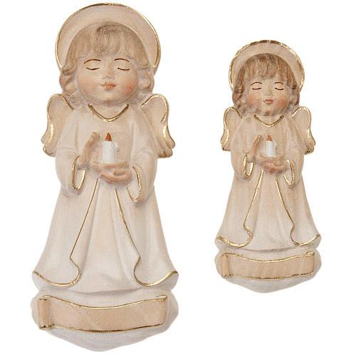 Angelo con candela veste bianca 1