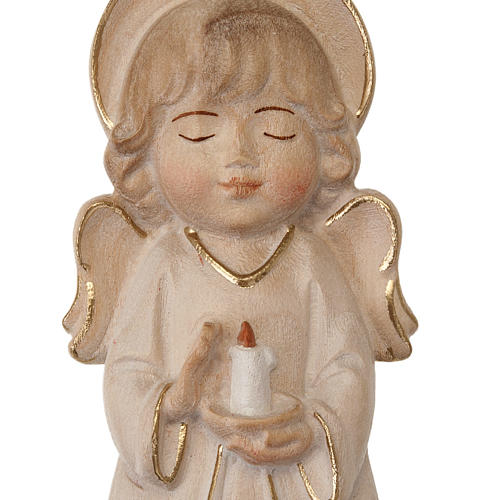 Angelo con candela veste bianca 2