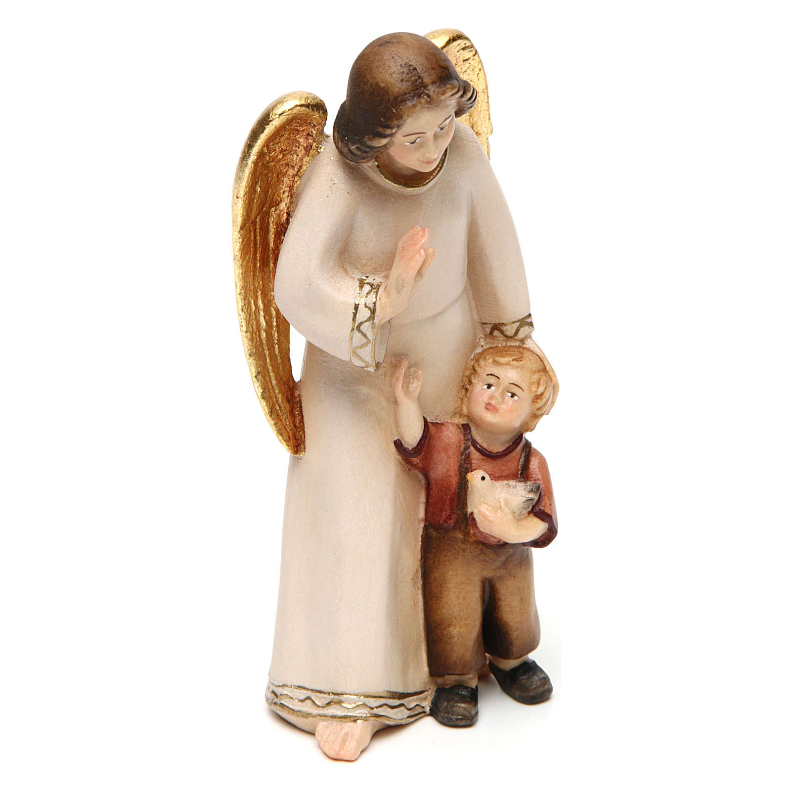 Guardian Angel with Boy, Modern Style in Val Gardena Wood 3