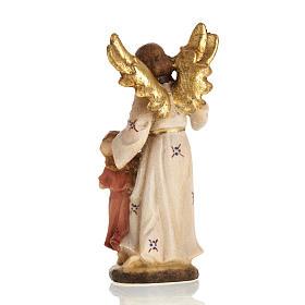 Ángel de la guarda con niña madera Val Gardena s2