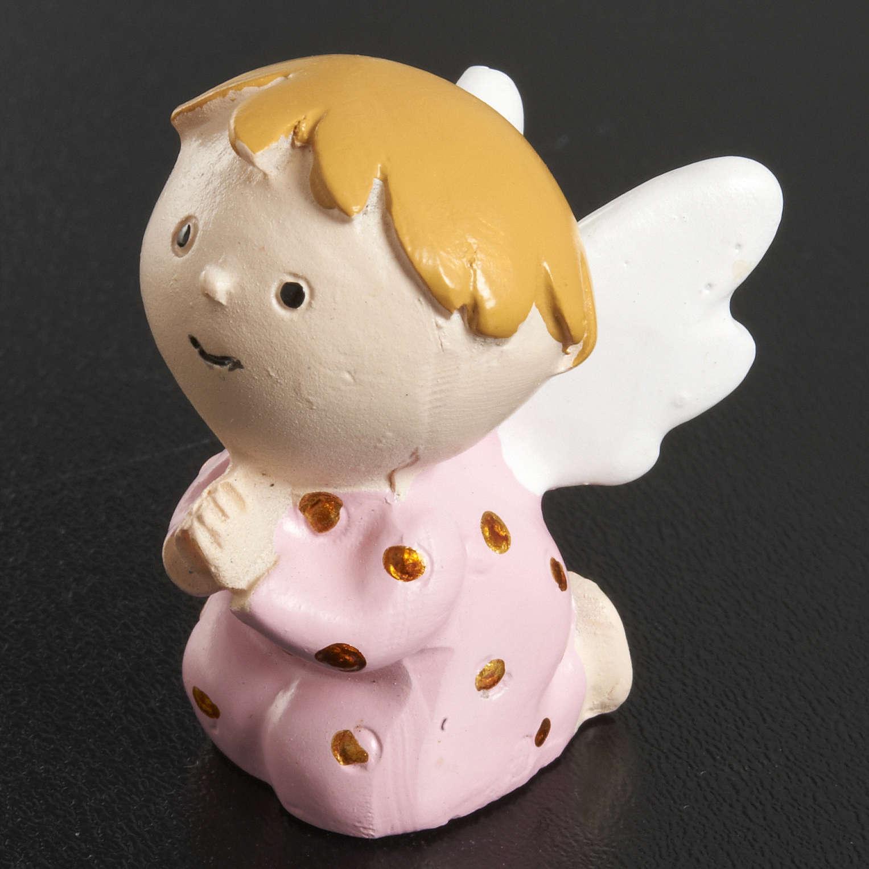 Aniołek żywica różowy 3