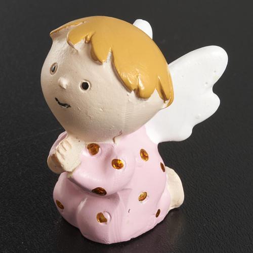 Aniołek żywica różowy 2